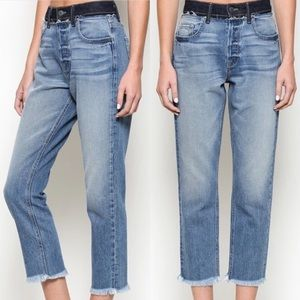 Hidden | NWT Zoey Mom Fit High Waisted Fray Jeans